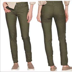 PRANA straight leg olive green jeans